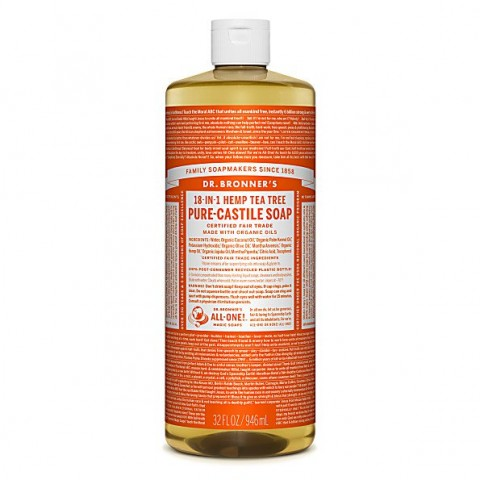 Dr Bronner's - Tea Tree - Pure Castille Liquid Soap - 32 oz/946 ml
