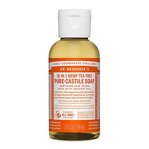 Dr Bronner's - Tea Tree - Pure Castille Liquid Soap - 02 oz/59 ml
