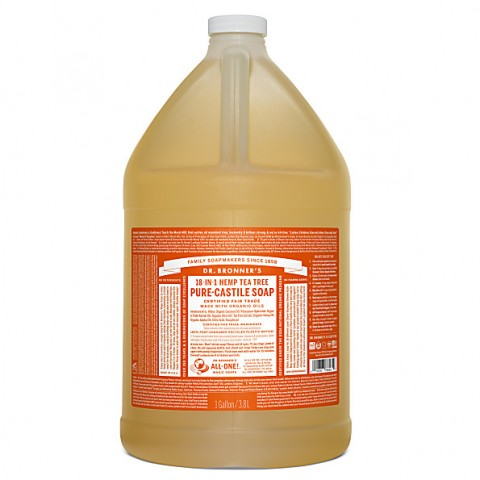 Dr Bronner's - Tea Tree - Pure Castille Liquid Soap - 1 Gallon/3,8 L