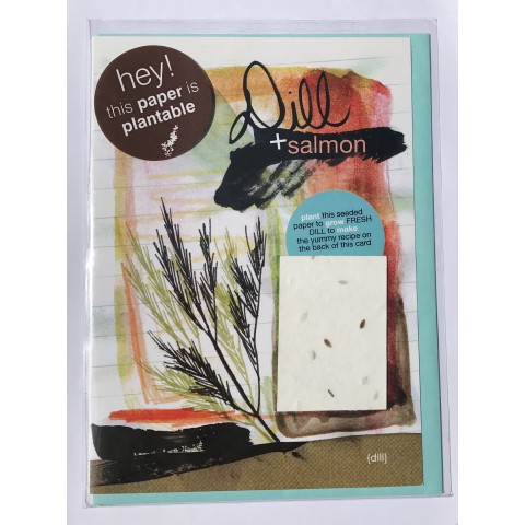 Botanical Paperworks - Plantable Paper Yummy Gift Card - Dill & Salmon
