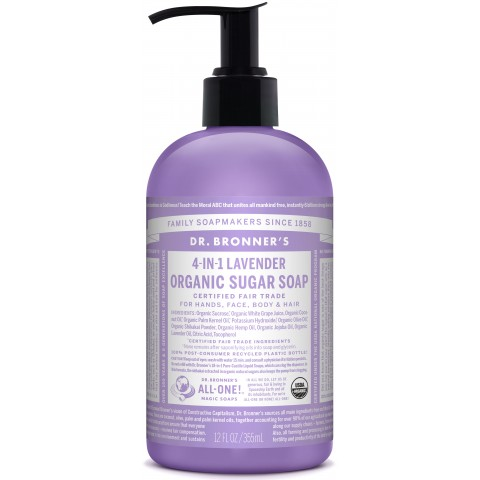 Dr Bronner's - Lavender - Pump Soap - 12 oz/355 ml