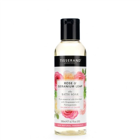 Tisserand - Rose & Geranium Leaf - Bath Soak - 200 ml
