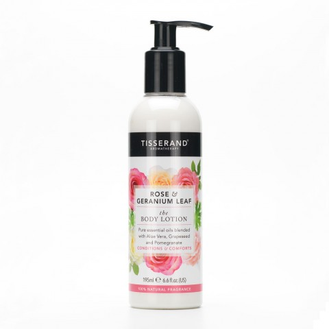 Tisserand - Rose & Geranium Leaf - Body Lotion - 195 ml