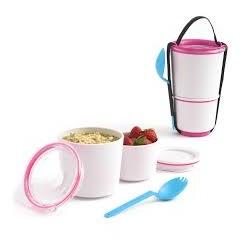 Black + Blum Lunch Pot White/Pink