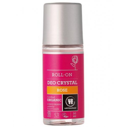 Urtekram Rose Deo Crystal Roll-On Organic 50 ml