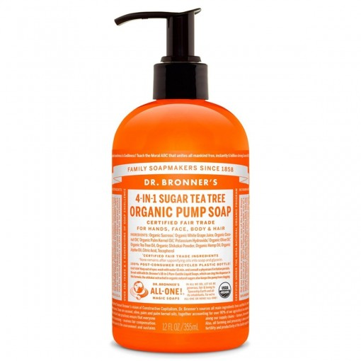Dr Bronner's Tea Tree Organic Pump Soap - 12 oz./355 ml