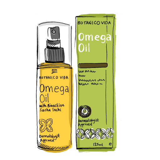 Botanico Vida Omega Oil. 100% Natural + Clinical Results. Stretch marks, scars, dry skin. Absorbent organic body oil, 125ml