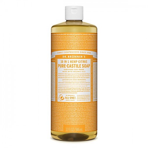 Dr Bronner's - Citrus - Pure Castille Liquid Soap - 32 oz/946 ml