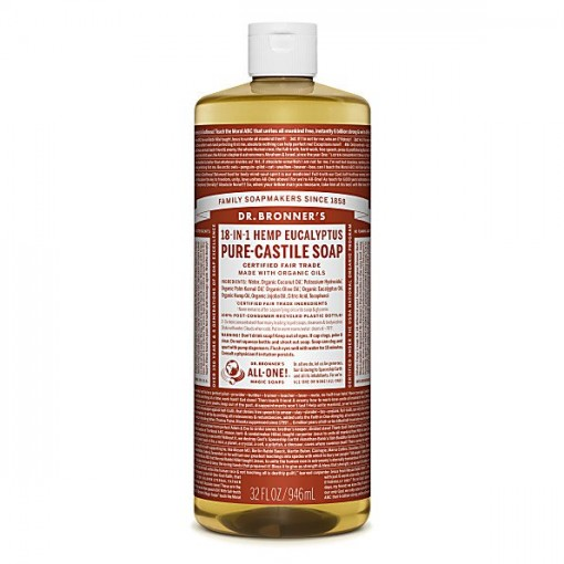Dr Bronner's - Eucalyptus - Pure Castille Liquid Soap - 32 oz/946 ml