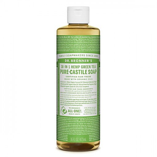 Dr Bronner's - Green Tea - Pure Castille Liquid Soap - 16 oz/473 ml
