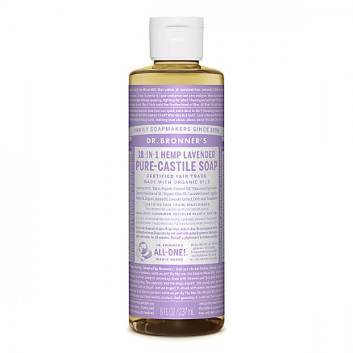 Dr Bronner's - Lavender - Pure Castille Liquid Soap - 08 oz/237 ml