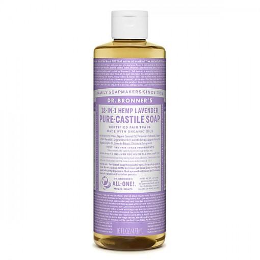Dr Bronner's - Lavender - Pure Castille Liquid Soap - 16 oz/473 ml