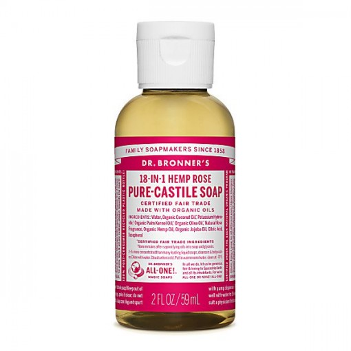 Dr Bronner's - Rose - Pure Castille Liquid Soap - 02 oz/59 ml