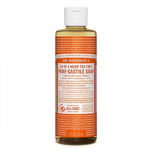Dr Bronner's - Tea Tree - Pure Castille Liquid Soap - 08 oz/237 ml