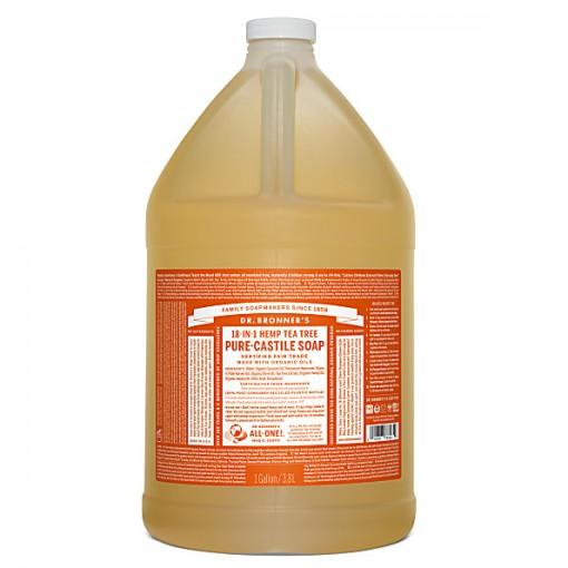 Dr Bronner's - Tea Tree - Pure Castille Liquid Soap - 1 Gallon/3,8 L