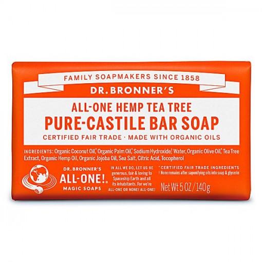 Dr Bronner's - Tea Tree - Soap Bar - 140 gr