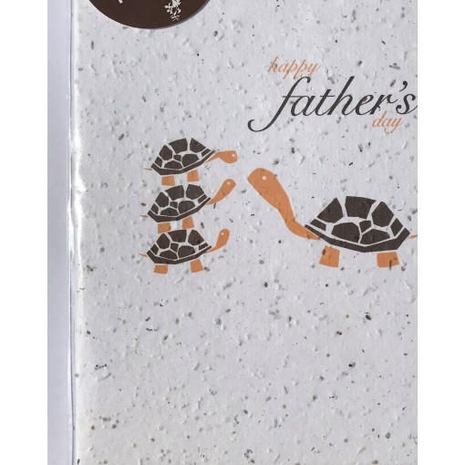 Botanical Paperworks 'Happy Father's Day' Festive Plantable Paper Gift Card -Classic-All Occasion Cards
