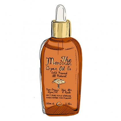 The Moroccan Argan Oil Co. - 100% Pure Organic & Cold Pressed Argan Oil - Dropper - 100ml