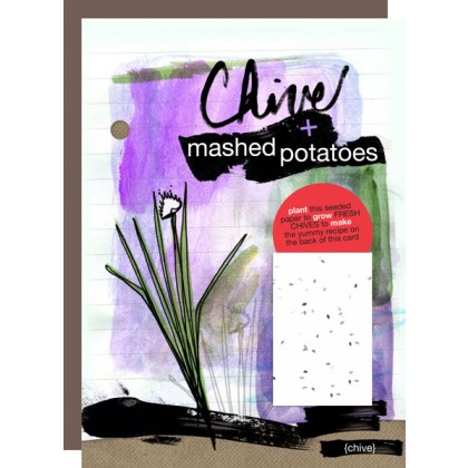 Botanical Paperworks- Chive Mashed Potatoes Plantable Paper Gift Card