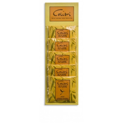 Colibri Cedar Wool Protector Sachet Lemongrass Hanger Clothes Protector (Pack of 5)