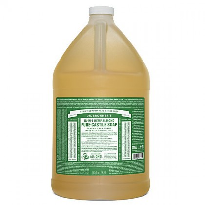 Dr Bronner's - Almond - Pure Castile Liquid Soap - 1 Gallon/3,8 L
