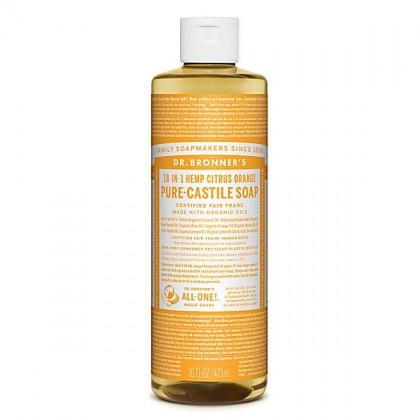 Dr Bronner's - Citrus - Pure Castille Liquid Soap - 16 oz/473 ml