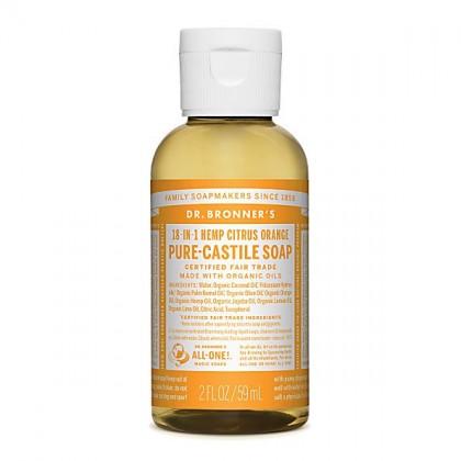 Dr Bronner's - Citrus - Pure Castille Liquid Soap - 02 oz/60 ml