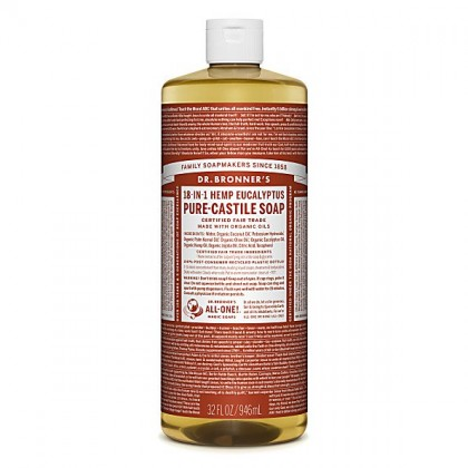 Dr Bronner's - Eucalyptus - Pure Castille Liquid Soap - 32 oz/946 ml