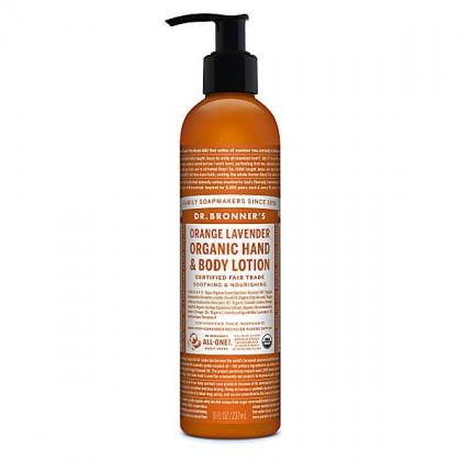 Dr Bronner's - Orange Lavender -  Hand & Body Lotion - 08 oz/237 ml