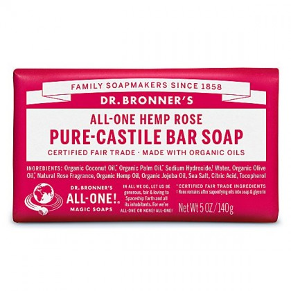 Dr Bronner's - Rose - Soap Bar - 140 gr