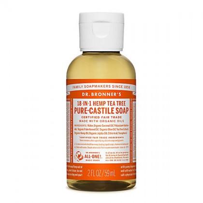 Dr Bronner's - Tea Tree - Pure Castille Liquid Soap - 02 oz/59 ml
