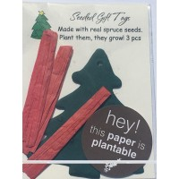 Botanical Paperworks- Plantable Spruce Tree Favor Seeded Gift Tags