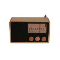Magno Wooden Radio Rectangular