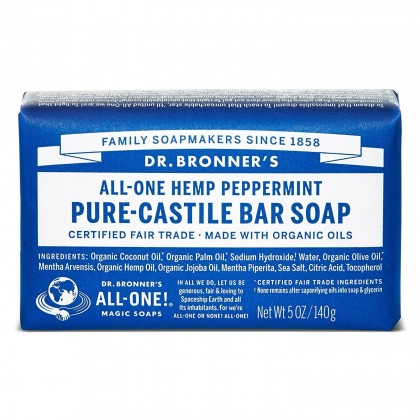Dr Bronner's - Peppermint - Soap Bar - 140 gr