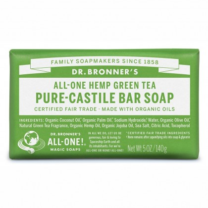 Dr Bronner's - Green Tea - Soap Bar - 140 gr