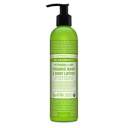 Dr Bronner's - Patchouli Lime - Hand & Body Lotion - 08 oz/237 ml