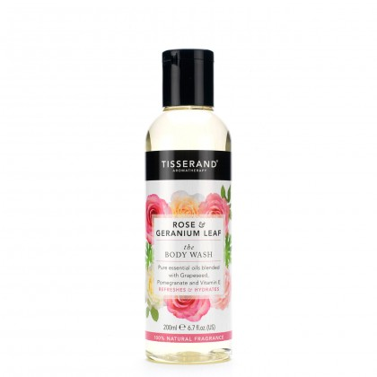 Tisserand - Rose & Geranium Leaf - Body Wash - 200 ml