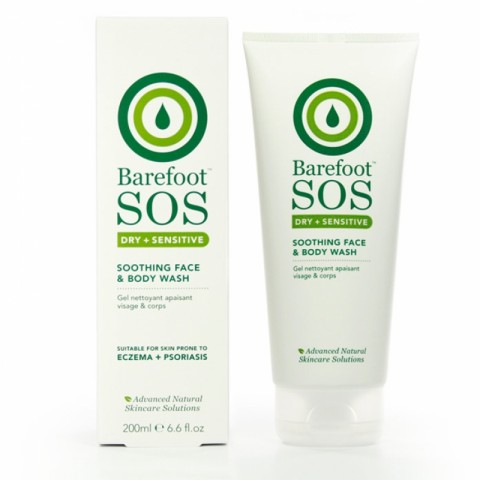 Barefoot SOS - Dry + Sensitive - Soothing Face & Body Wash - 200 ml