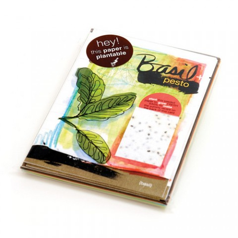 Botanical Paperworks - Plantable Paper Yummy Gift Card - Basil & Pesto