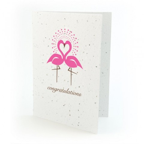 "Botanical Paperworks - Plantable Paper Gift Cards - ""Congratulations"" - Pink"