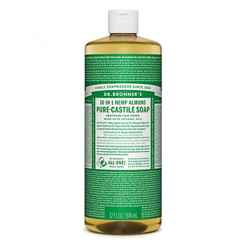 Dr Bronner's - Almond - Pure Castille Liquid Soap - 32 oz/946 ml
