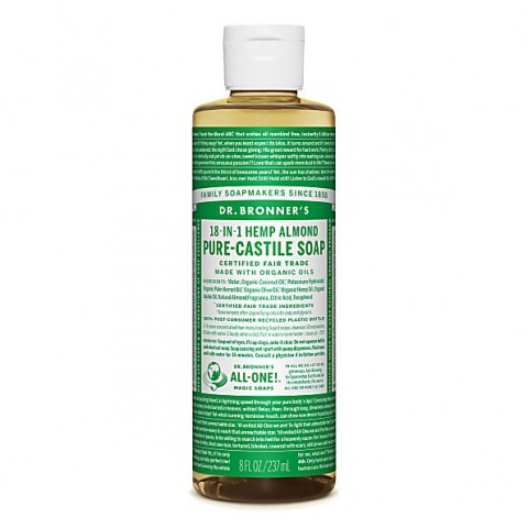 Dr Bronner's - Almond - Pure Castille Liquid Soap - 08 oz/237 ml