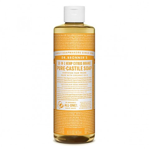 Dr Bronner's - Citrus - Pure Castille Liquid Soap - 16 oz/473 ml