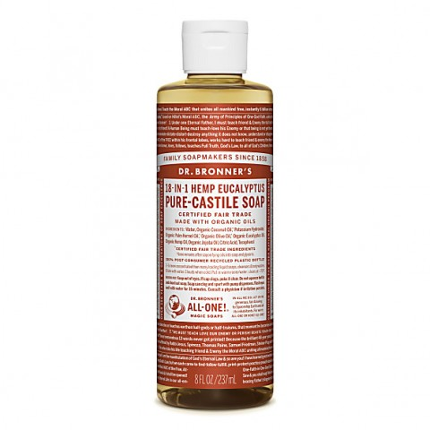 Dr Bronner's - Eucalyptus - Pure Castille Liquid Soap - 08 oz/237 ml