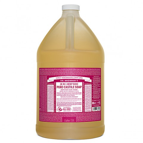 Dr Bronner's - Rose - Pure Castille Liquid Soap - 1 Gallon/3,8 L