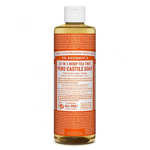 Dr Bronner's - Tea Tree - Pure Castille Liquid Soap - 16 oz/473 ml