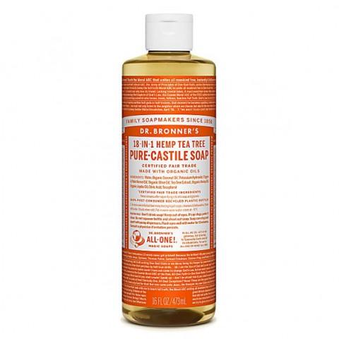 Dr Bronner's - Tea Tree - Pure Castille Liquid Soap - 16 oz/473 ml