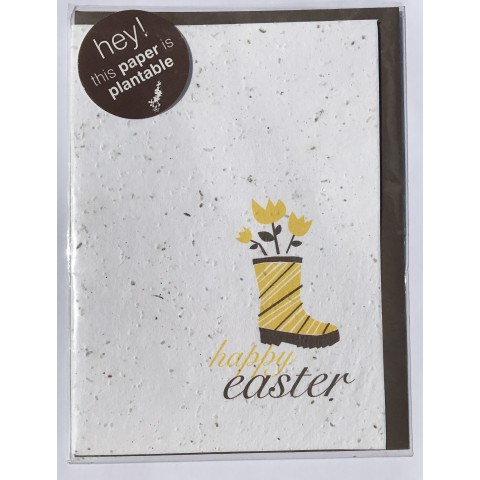 "Botanical Paperworks - Plantable Paper Gift Cards - ""Happy Easter"""