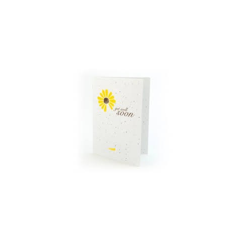 "Botanical Paperworks - Plantable Paper Gift Cards - ""Get Well Soon"""