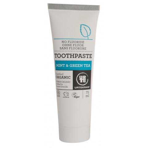 Urtekram - Mint & Green Tea - Toothpaste - 75 ml
